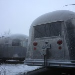 Airstreams in the snow
