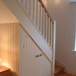 Oak staircase traditional with painted spindles 2