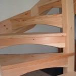 Modern pine open staircase